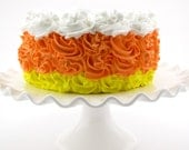 "Candy Corn Rosette Fake Cake For Autumn Candy Corn Decor Halloween Photo Shoot Approx. 7.75""w x 3.75""h"