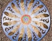 Sun Dance Eagle Feather PDF Applique Quilt Pattern