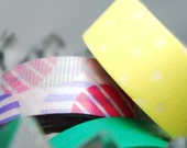 Washi Tape / White Dots on Yellow / 10m x 1.5cm
