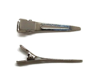 200 Single Prong Alligator Hair Clips 45mm (1 3/4 inch)