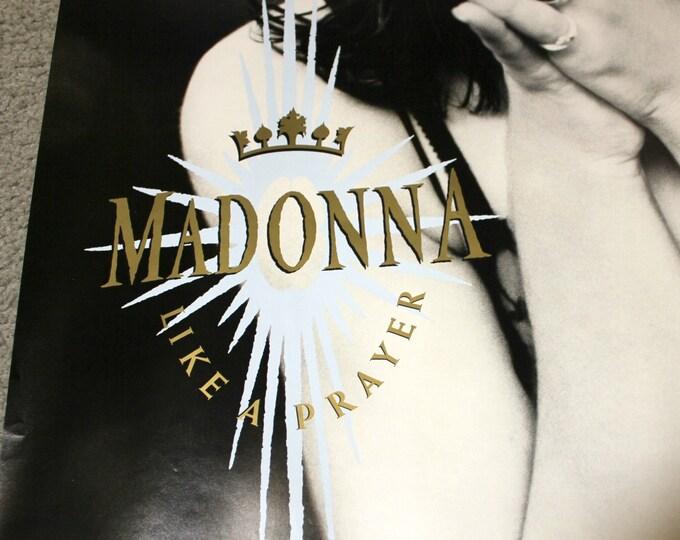 1989 Madonna Poster Like a Prayer, Sire Records Original Promo, Vintage Music Advertising