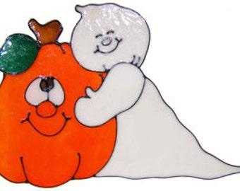 Ghost & Pumpkin Window Cling