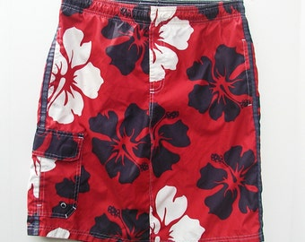 Teen Swim Skirt Hawaiian Flowers