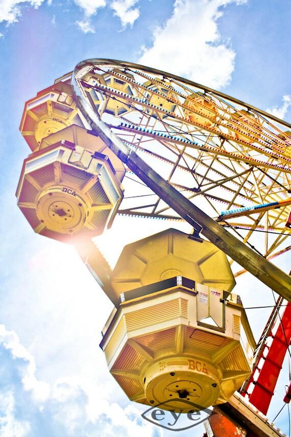 Under the Ferris Wheel Fine Art Print- Carnival Art, County Fair, Nursery Decor, Home Decor, Children, Baby, Kids