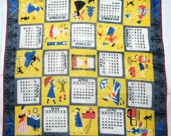 Vintage 1954 Souvenir Collectible Handkerchief