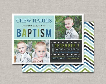 LDS Baptism Invitation - Crew