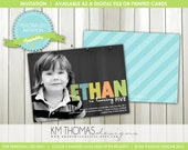 Sprinkles Birthday Invitation: Photo Invitation - Custom Colors - 1st Birthday Invitation - Boys Party - Printable - Digital - #102