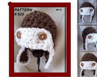 Hat Pattern Crochet Pattern Aviator Hat 525 Newborn