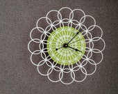 RESERVED retro clock - doily wall clock