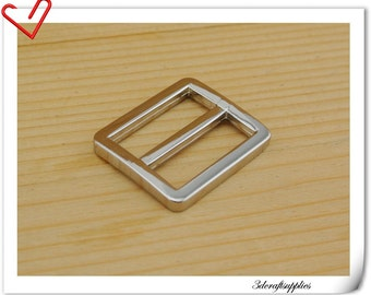 1 inch (inner diameter) Nickel alloying rectangle sliders strap adjuster 10pcs 3mm thickness U75