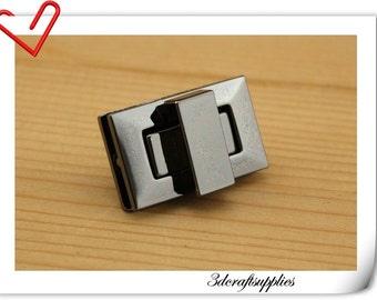 Purse lock  twist  purse turn lock clutch clock  Gunmetal 3.3cm x 2cm (1.25 inch x 3/4 inch ) P131