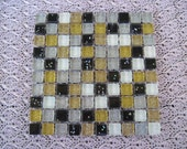 Metallic Black Silver and Gold Mini Crystal Glass Tiles Black Silver and Gold Mosaic Tiles