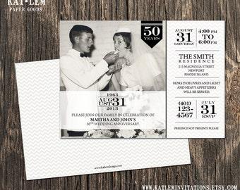 50th Anniversary Invitation - Photo and Block Text - DESIGN FEE