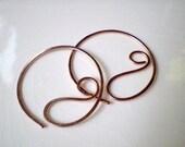 Swirl Hoop Earrings (rgf)