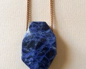 Simple Sodalite Neckwear...