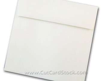 WHITE 5.5 inch SQUARE Envelopes 50 pk