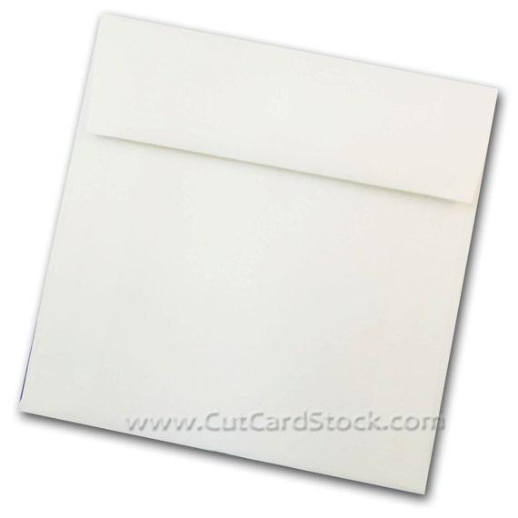 WHITE 5.5 inch SQUARE Envelopes 50 pk