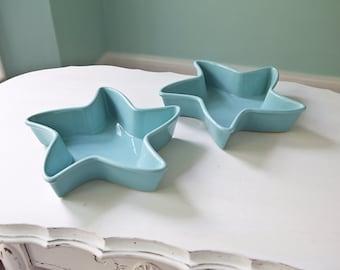 aqua star caserole serving dish chantal blue beach coastal cottage pottery ceramic