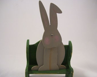 Bunny Rabbit: Handmade Wood ... Oh no, Another Hare