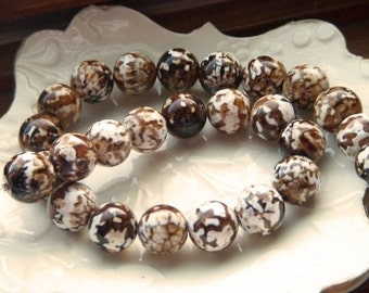 Smooth Polished Tortoise Agate Rounds - Half Strand