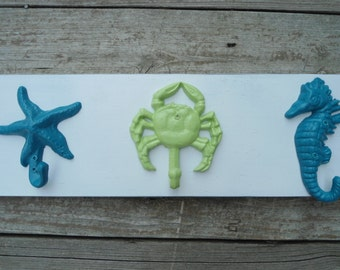 starfish anchor beach towel rack seahorse mermaid bathroom towels, bathroom towel rack storage hot tub outdoor shower pool towel Outer Banks