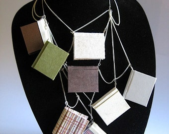 Chained Library Book Necklace
