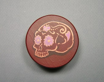Jewelry Box, Sugar Skull - Hand Painted Original Design
