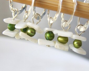 The Princess and the Pea - Fairy Tale Series - Five Handmade Stitch Markers - 6.5 mm (10.5 US) - Limited Edition