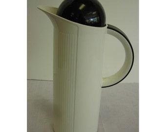 Krups Thermal Carafe ROC Design Type 280 Made in Taiwan Vintage Black and White