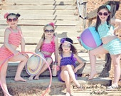 Petti Lace romper swim suit  2 piece bikini bathing suit toddler girl Special Etsy Pricing  reg 38.00