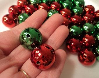 BULK - Christmas Ball Beads 20mm - set of 12
