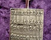 TYPEWRITER  Pendant necklace Steampunk machine