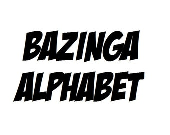 Instant Download - Bazinga Alphabet Filet Crochet Cross Stitch Pattern