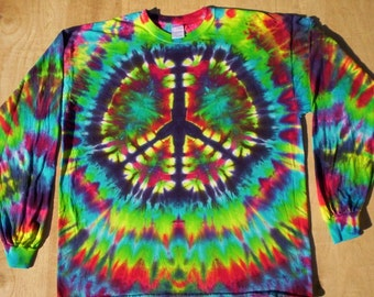 Rainbow Peace Tie Dye Long Sleeve