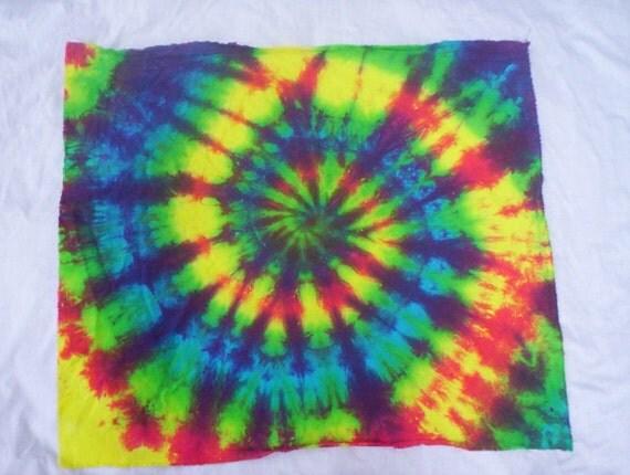 color burst tie dye bandana