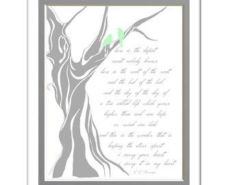 I Carry Your Heart Tree Of Life Ee Cummings Poem Custom Wedding Print Custom Colors