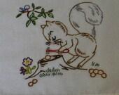 Squirrel Cracking Nut Dish Towel