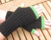 Unisex Fingerless Mittens -  Fingerless Gloves -  Hand  Warmers - Hand knit. Val070. FREE SHIPPING