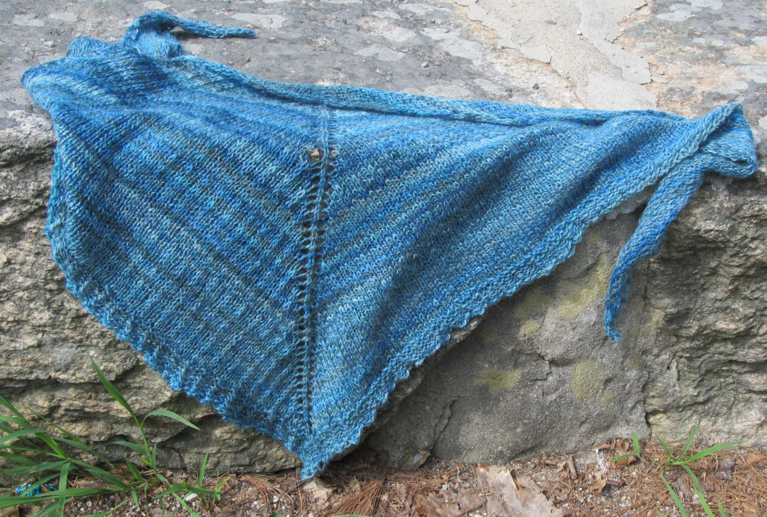 Knitting Stitch Slip 1 Wyif : slip stitch knit shawl pattern Blueridge Shawl top down