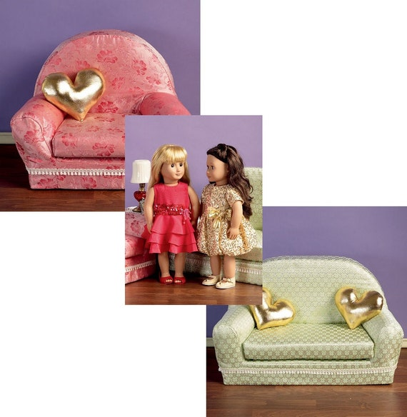 Doll Furniture Pattern Fits American Girl Couch Or
