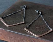 Chevron Earrings- as seen on Rachel Bilson
