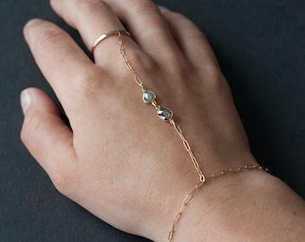 Natural Diamond Slice Hand-Chain