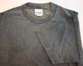 Pigment Dyed Tee Shirt, Blank, DISTRESSED NAVY