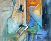"Abstract Painting, Mixed Media Painting, 8x10"" Original Abstract, ""Tiny Bubbles"""