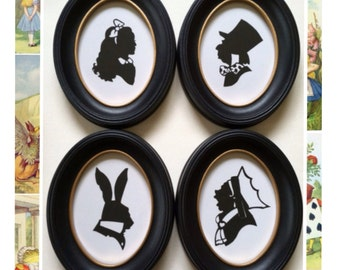 Alice in Wonderland Silhouette Set