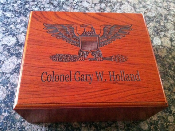 Cigar Humidor military gifts retirement personalized