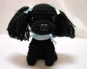 Small Black Poodle Crochet Dog, Amigurumi ,Canine, Stuffed Dog, Stuffed Animal, Dog Lover