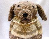 Hand Knitted Dog, Handmade, Stuffed Animal, Toy, Canine, Stuffed Dog