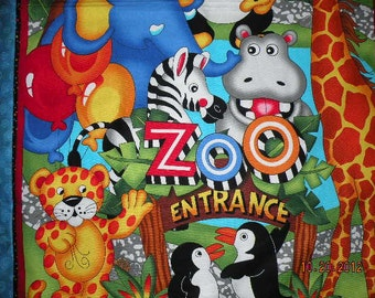 Off To The Zoo Quilt - CLOSE OUT ITEM