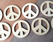 12 Pieces- Craft Wood Shapes Peace Signs